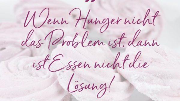Wenn Hunger nicht das Problem ist, ist Essen nicht die Lösung
